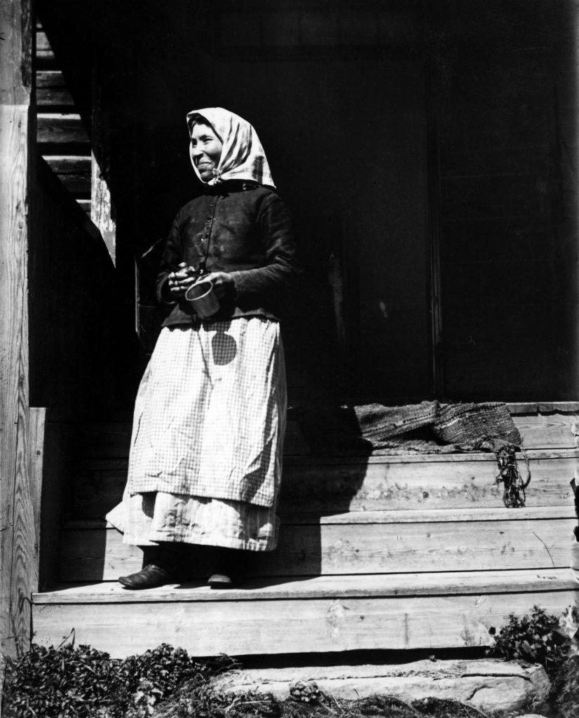 Tanten på trappan